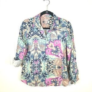 Chico's Floral Pattern Top